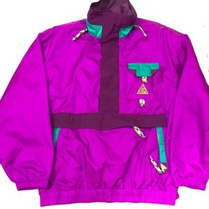 Vintage 90s 1/2 Zip Anorak Windbreaker Oversized